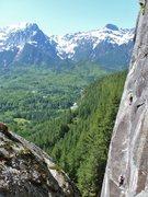 "Rock Climbing Photo: ""Town Crier"",Index WA"