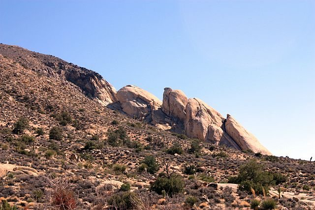 Saddle Rocks from Cave Corridor, Joshua Tree NP