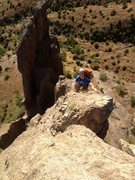 Rock Climbing Photo: Almost to the Summit of The Hand. What a cool clim...