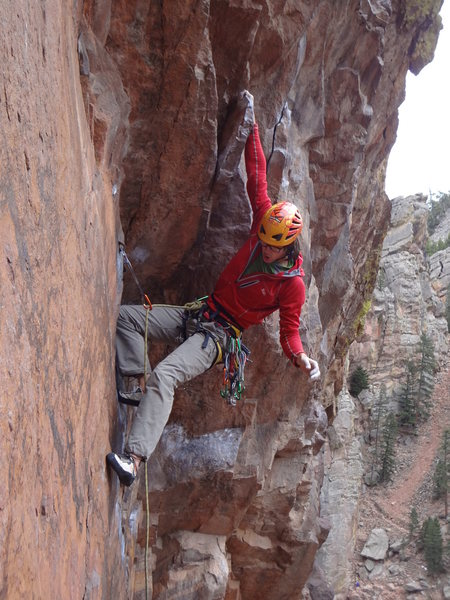 Rock Climbing Photo: Cheyne on the opening moves.