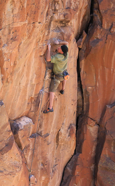 Ian on some ugly slopers<br> Where The Wild Things Aren't (5.11)