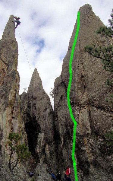 Rock Climbing Photo: Climber Evan Johnson on Reef #2 (left), Java is th...