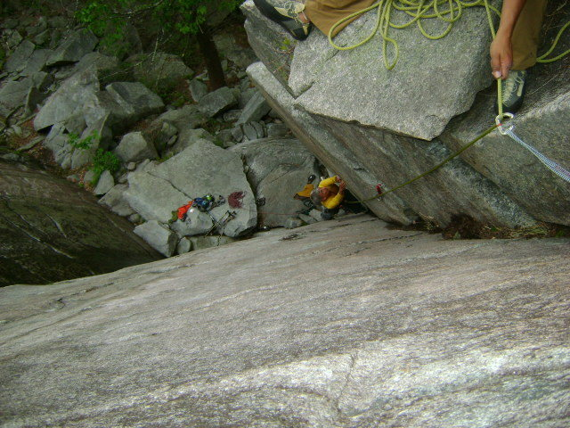 Rock Climbing Photo: Birds eye view of the pitch