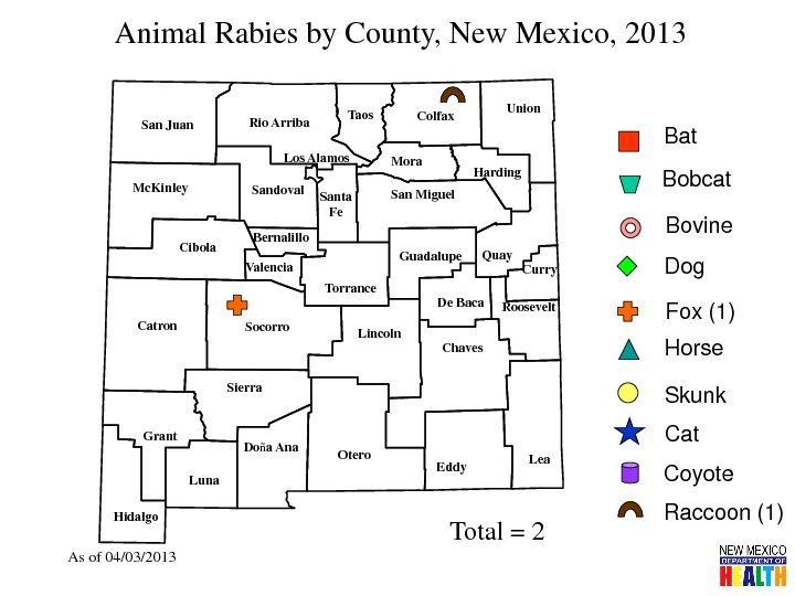 Rock Climbing Photo: Map indicating rabies incident.