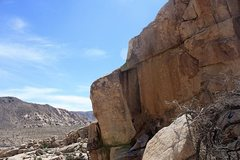 Rock Climbing Photo: Point of No Return (5.10c), Joshua Tree NP