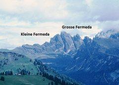 Rock Climbing Photo: Grosse Fermeda and Kleine Fermeda.