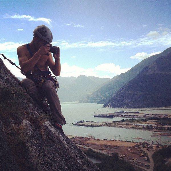 Up on Snake. Squamish, BC