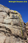Rock Climbing Photo: Midnight Dreamer (5.9), Joshua Tree NP