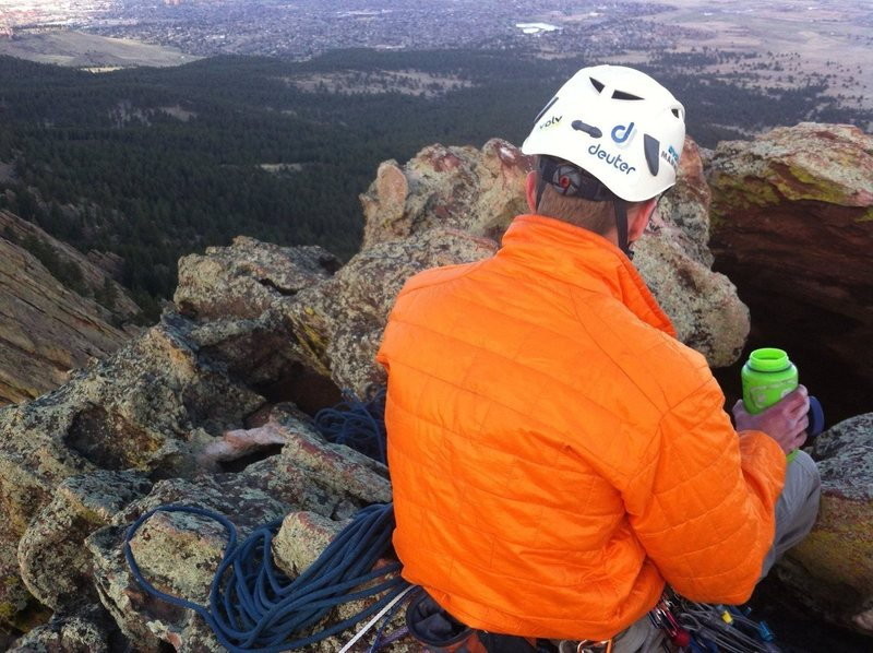 Rock Climbing Photo: Enjoying a well deserved rest after topping out on...