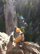 Rock Climbing Photo: Preparing for lift off. About the toss the rope fo...