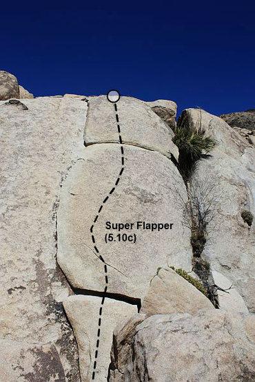 Super Flapper (5.10c), Joshua Tree NP