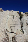 Rock Climbing Photo: Super Flapper (5.10c), Joshua Tree NP