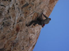 Rock Climbing Photo: Resting in the stalactite
