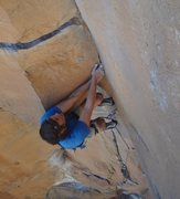 Rock Climbing Photo: Pullin' roof!