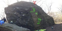Rock Climbing Photo: Mean Green Worthless Boulder