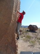 Rock Climbing Photo: Justin Peinado going up on Grandpa Smith (Aug 2011...