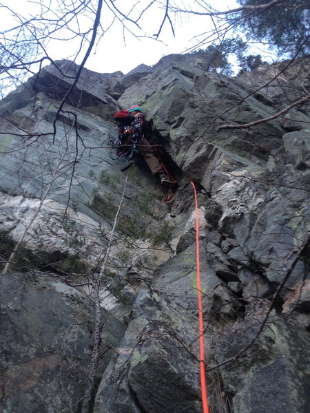 Frederik during the first ascent