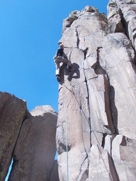 Rock Climbing Photo: Mind Mantel @ N. Table Mt.