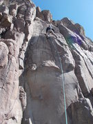"Rock Climbing Photo: Nearing the crux finish on ""Under the Table&q..."