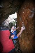 Rock Climbing Photo: Melin sending Spanky
