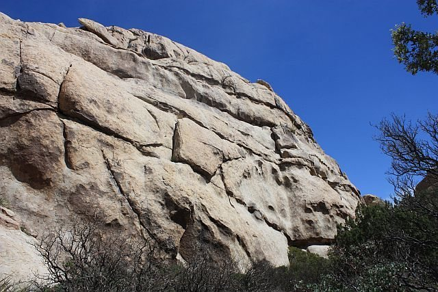 The left side of Big Hunk's SW Face, Joshua Tree NP