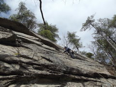 Rock Climbing Photo: Jay just befor the crux