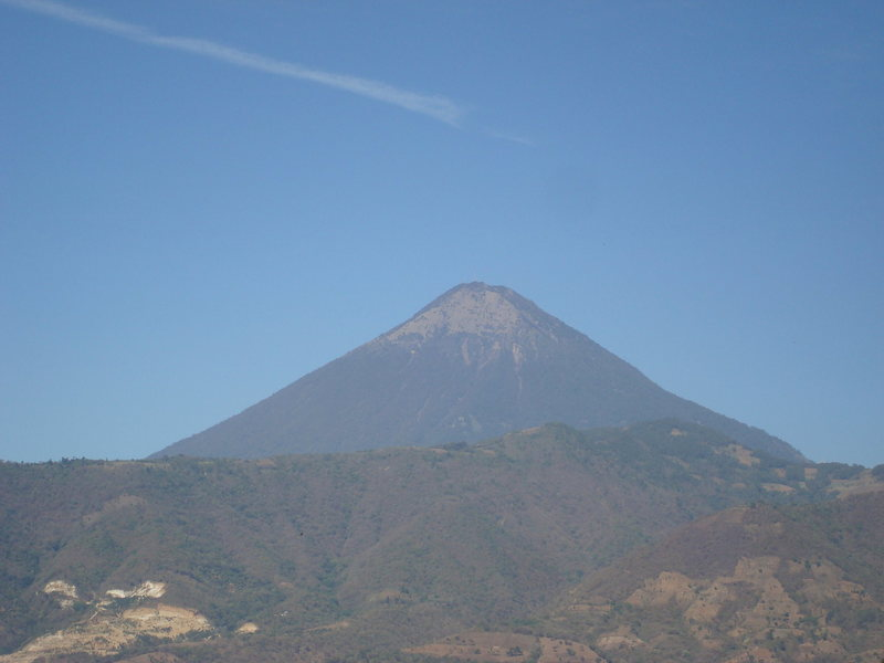 View of Volcán de Pacaya from the upper crag.