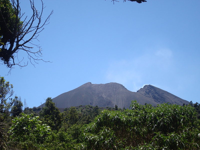 The crater of Pacaya.