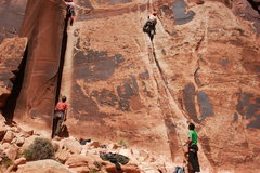 Rock Climbing Photo: Elephant man is the climb to the right.  Double cr...