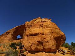 Rock Climbing Photo: Matt near the start