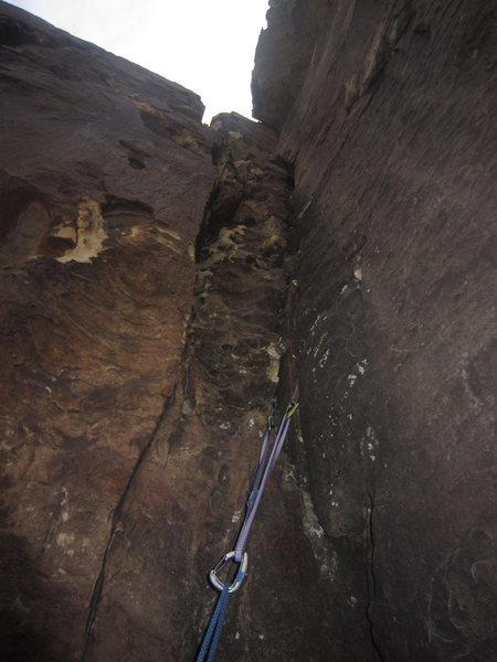 Rock Climbing Photo: lookin' up at pitch 2