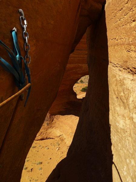 Rock Climbing Photo: the rap anchors