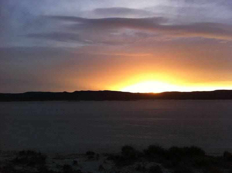Sunrise over the hardpan