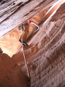 Rock Climbing Photo: Matt starting up P2
