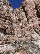 Rock Climbing Photo: Huggin the hardpan
