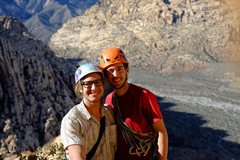 Rock Climbing Photo: Jack (on the left) and me (on the right) atop Hodo...