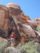 Rock Climbing Photo: Jack on the FA