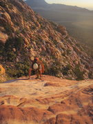 Rock Climbing Photo: jack frictioning his way up some slabs on the long...