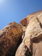 Rock Climbing Photo: Jack sending on pitch 3