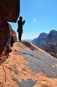 Rock Climbing Photo: Nice ledge at top of pitch 3