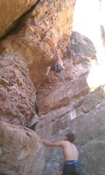 Rock Climbing Photo: Pulling through the crux