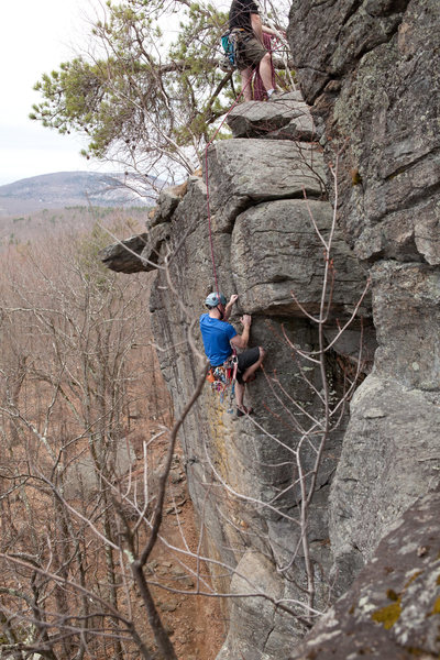Seconding The Nose (5.9) at Crow Hill.