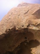 Rock Climbing Photo: Hard to expose the overhang and headwall in the sa...
