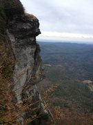 Rock Climbing Photo: This shows the cool position that you rappel from....