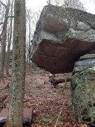 "Rock Climbing Photo: ""Legion"" (V7) stand starts under the roo..."