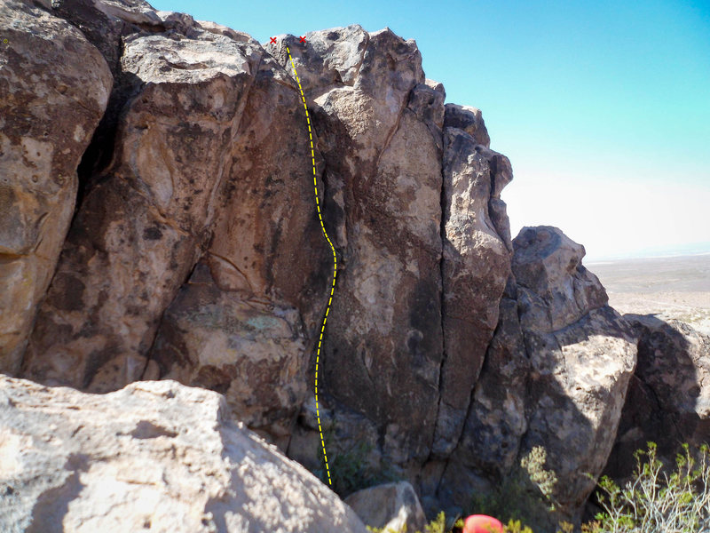 Rock Climbing Photo: The clencher