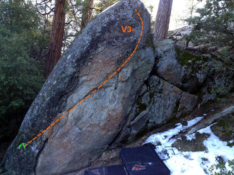 Rock Climbing Photo: Orange Slice (V3-)