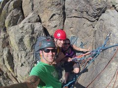 Rock Climbing Photo: Durrance has the best belay ledges!!