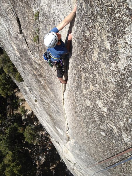 Rock Climbing Photo: Lunatic fringe: the last 10 ft.