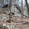 One of the smaller crags.